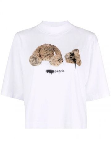 T-shirt Teddy Bear bianca