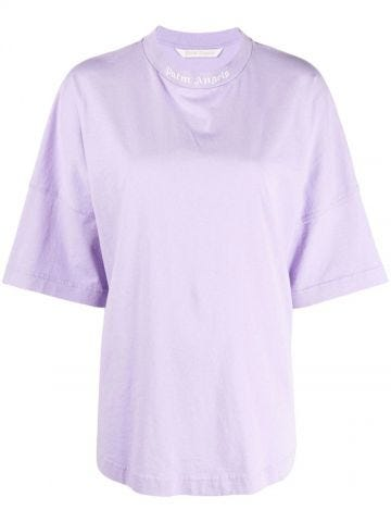 Logo oversized violet T-shirt