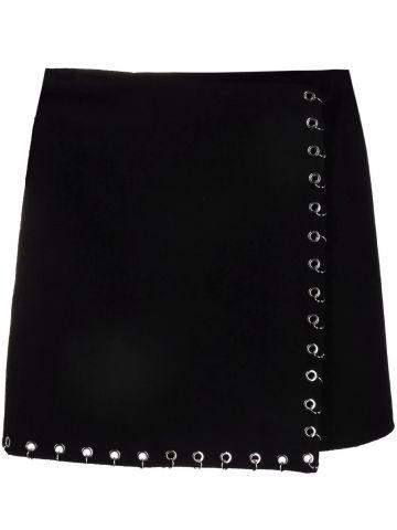 Black skirt with eyelets