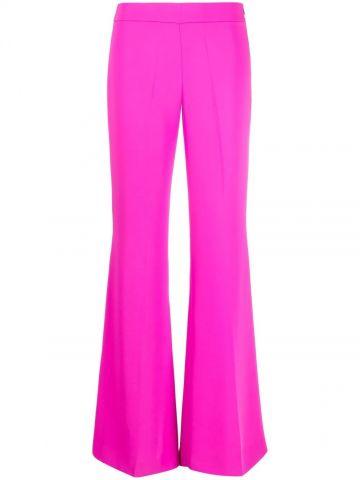 Fuchsia high-waisted flared pants