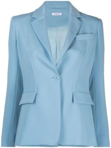 Blue single-breasted jacket
