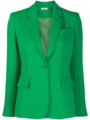Green single-breasted jacket