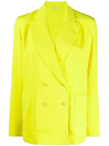 Yellow double-breasted jacket