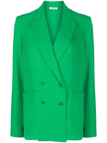 Green double-breasted jacket