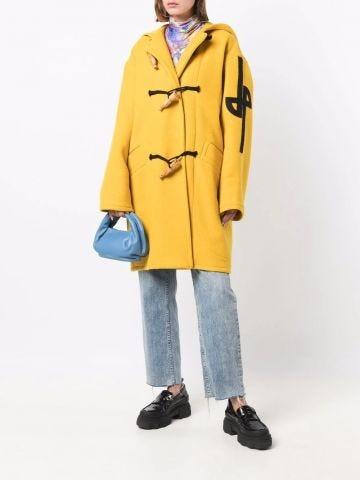 Yellow oversized duffle coat