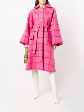 Pink Mac check coat
