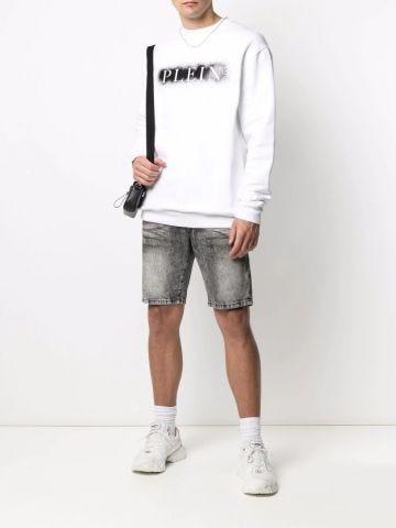 Grey Mykonos denim bermuda shorts