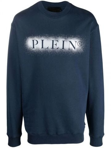 Blue logo sweatshirt
