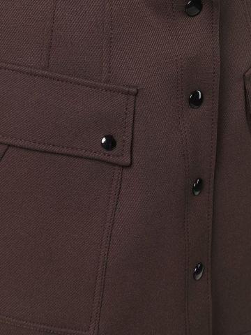 Brown high-waisted miniskirt