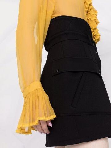 Black high-waisted miniskirt