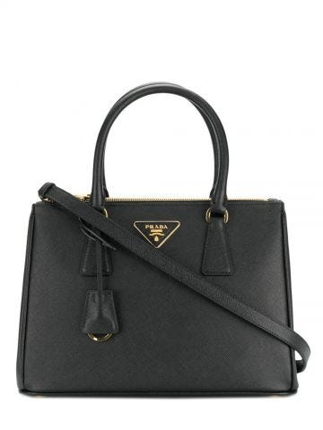 Black Prada Galleria Saffiano leather medium bag