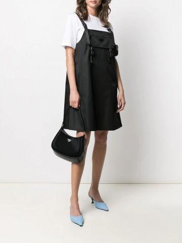 Prada Cleo black brushed leather shoulder bag