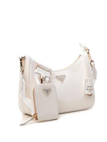 Prada Re-Edition 2005 white Saffiano leather bag
