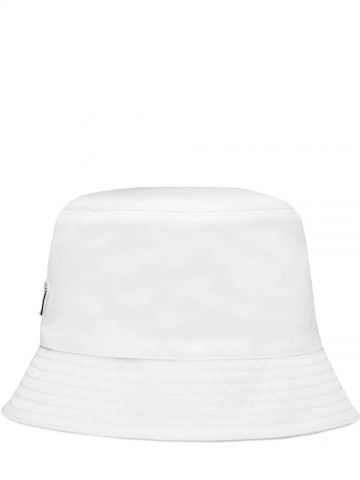 White Re-Nylon bucket hat