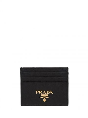 Black Saffiano leather card holder