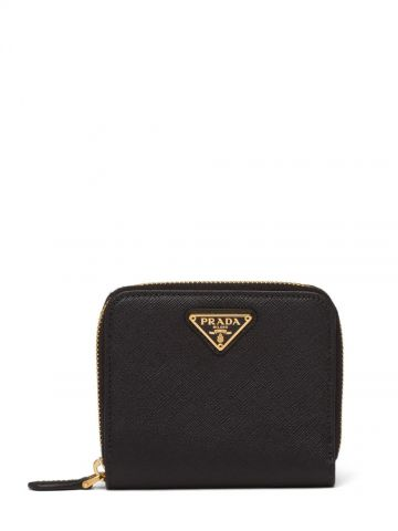 Small black Saffiano leather wallet