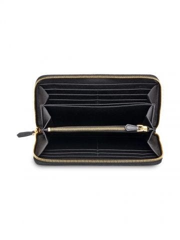 Large black Saffiano leather wallet