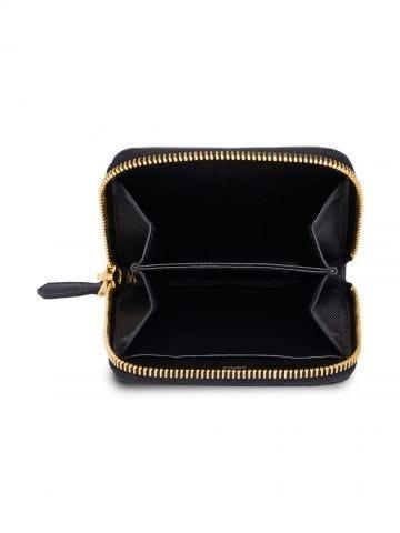 Black Saffiano Leather Coin Purse