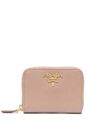 Pink Saffiano Leather Coin Purse
