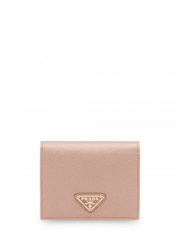 Small pink leather wallet