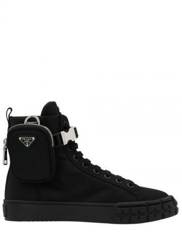 Black Wheel Re-Nylon Gabardine high-top sneakers