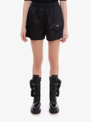 Shorts in black Re-Nylon