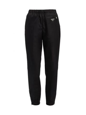 Pantalone in Gabardine Re-Nylon nero