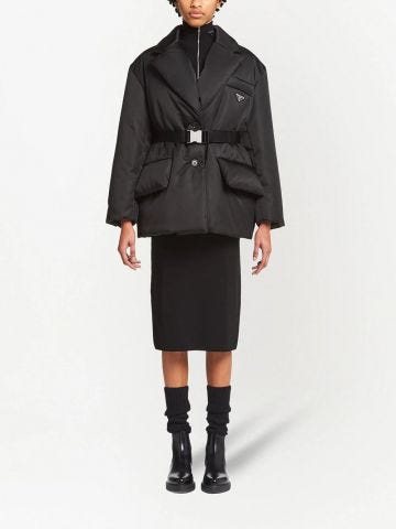 Black Re-Nylon down jacket