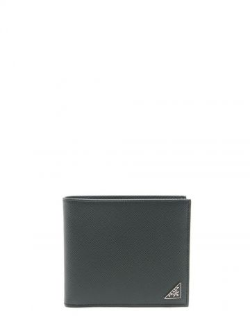 Green Saffiano leather wallet
