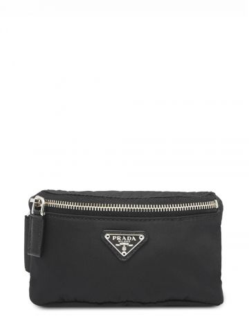 Black nylon wrist mini bag