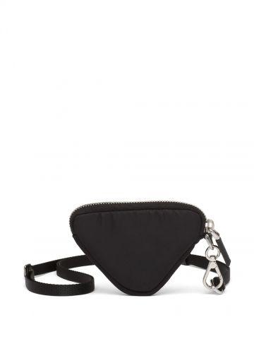 Black Re-Nylon logo pouch