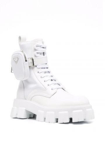 White Monolith ankle boots