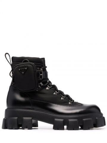 Black Monolith ankle boots