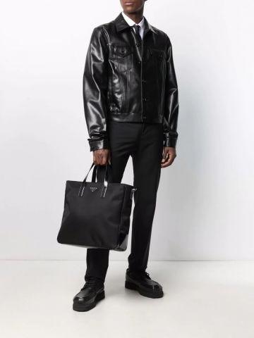 Black Re-Nylon tote bag