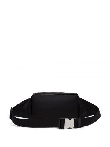Black applique fanny pack
