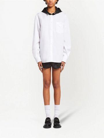 Blusa bianca con stampa