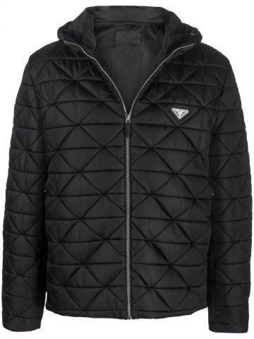Black Re-Nylon blouson jacket