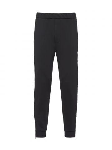 Black technical fleece pants