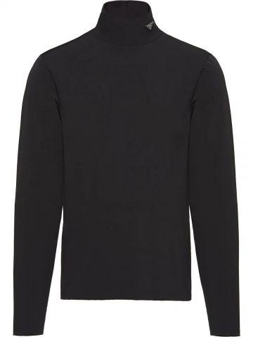 Black turtleneck sweater