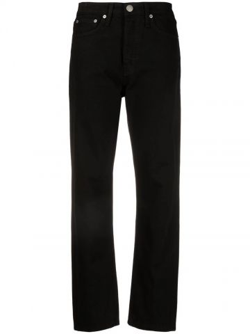 Straight black high-waisted jeans