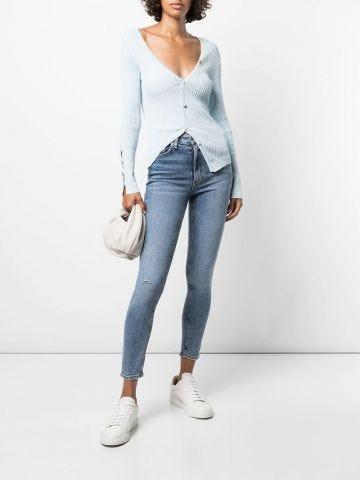 Blue Nina high-rise skinny jeans