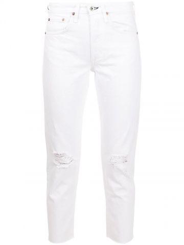 White Rosa mid-rise boyfriend jeans
