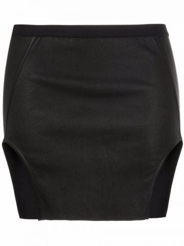 Black cut-detail mini skirt