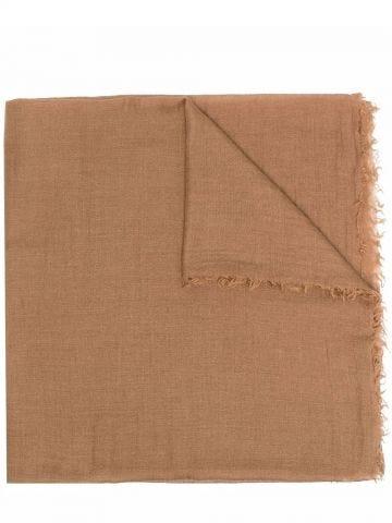 Beige silk-cashmere blend scarf