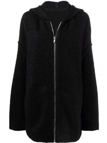 Black oversized wool blend jacket