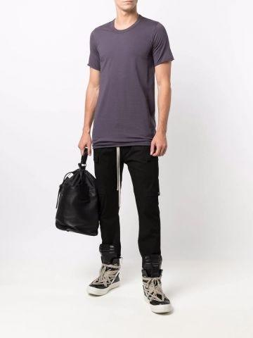 Violet cotton T-shirt