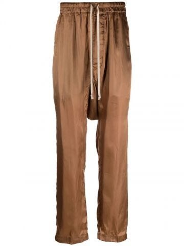 Shiny brown low-cut trousers