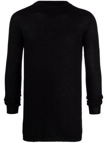 Maglione nero in maglia fine di cashmere