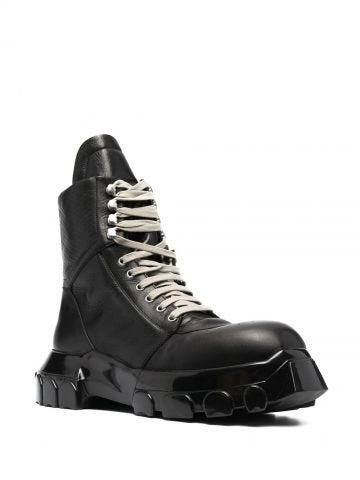 Black Tractor Dunk ankle boots