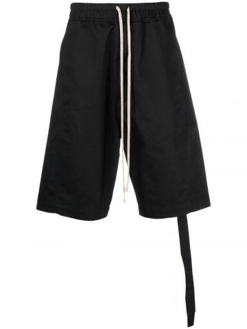 Black knee-length shorts